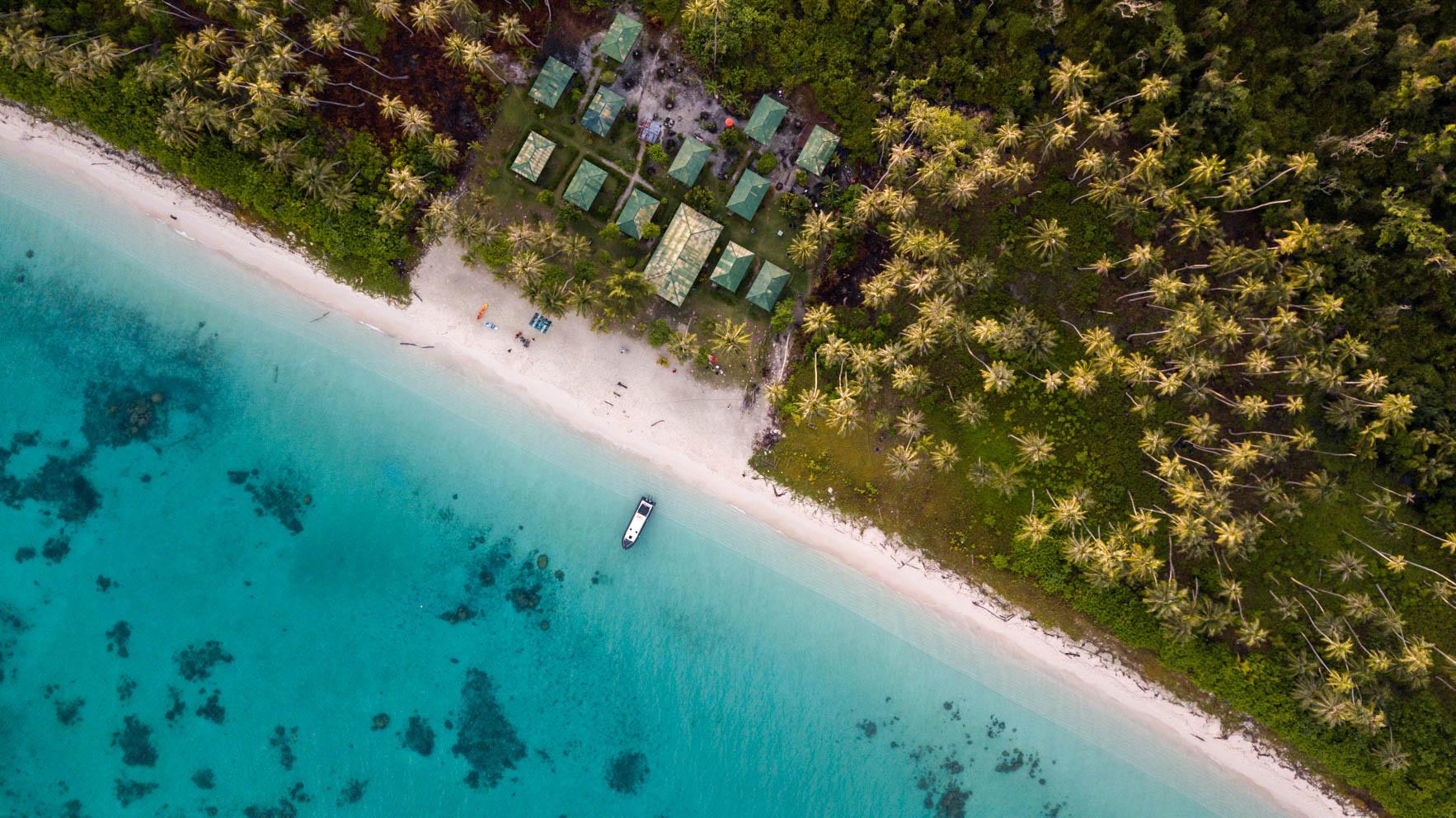 Wyspa Palambak - z lotu ptaka
