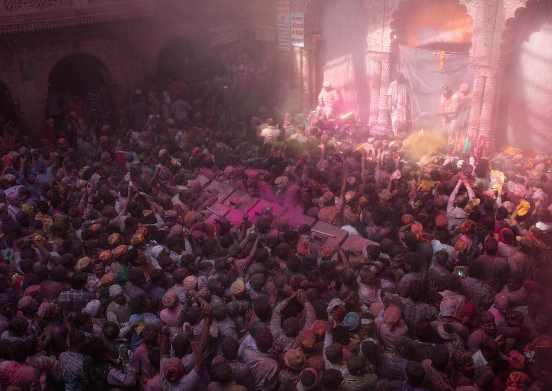 Holi - świątynia Vrindavan