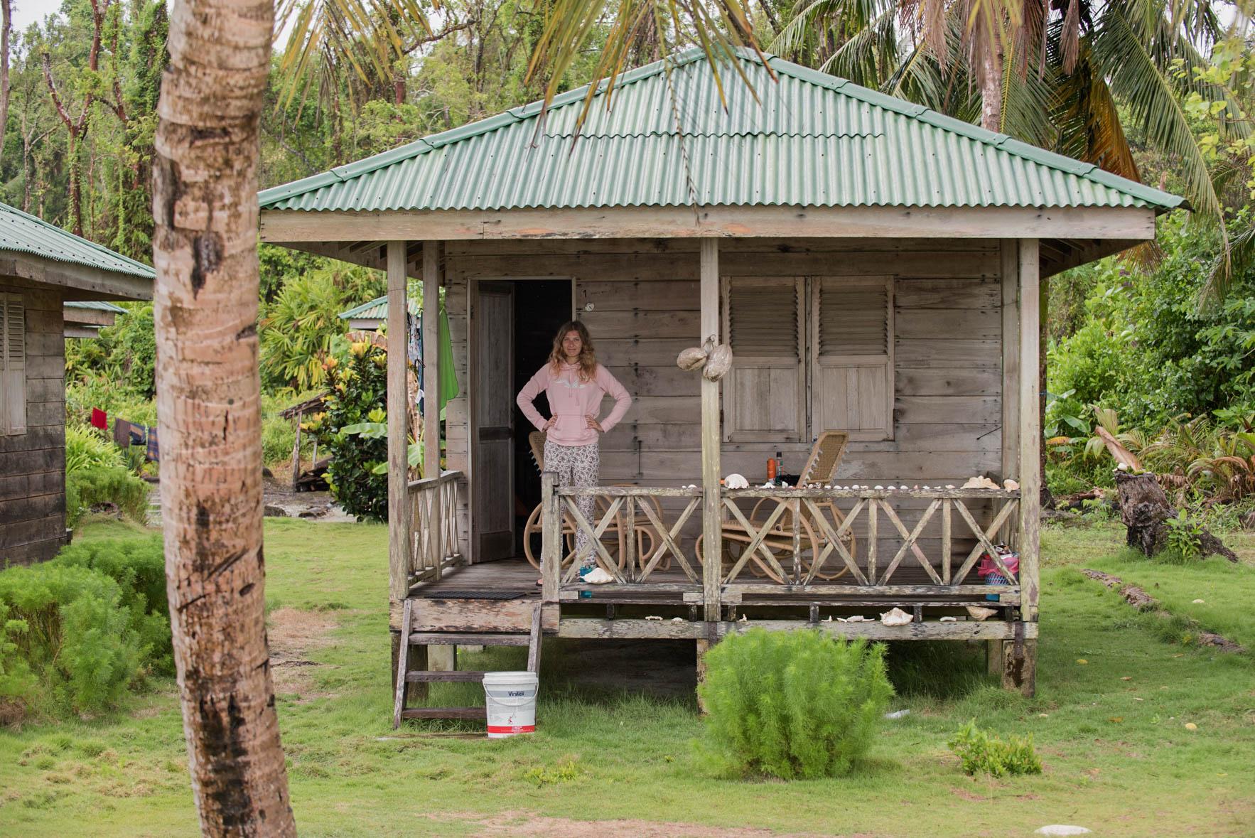 Wyspa Palambak - bungalow
