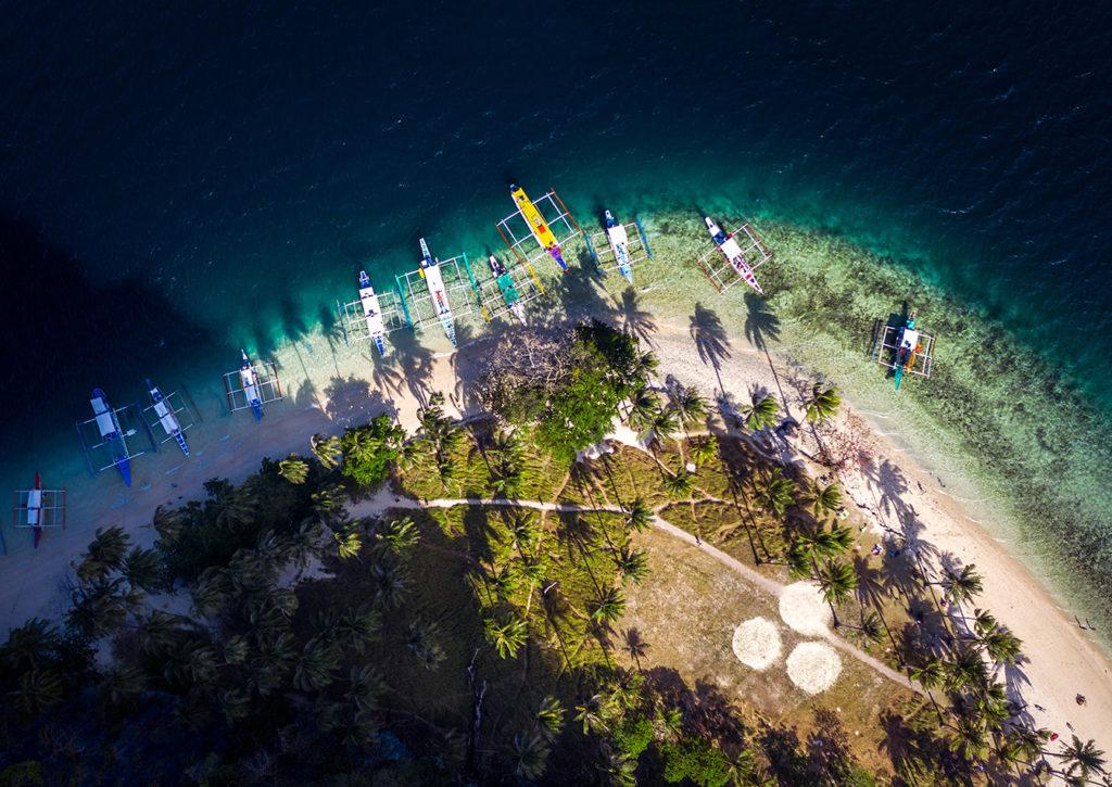 El Nido Filipiny - zdjęcie z drona