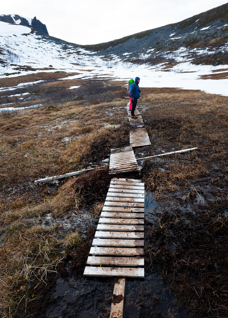 Po drodze na szczyt Husfjellet. Norwegia