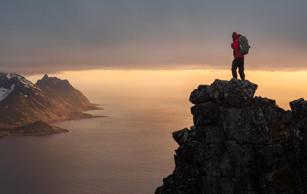Szczyt Hesten, Senja, Norwegia.