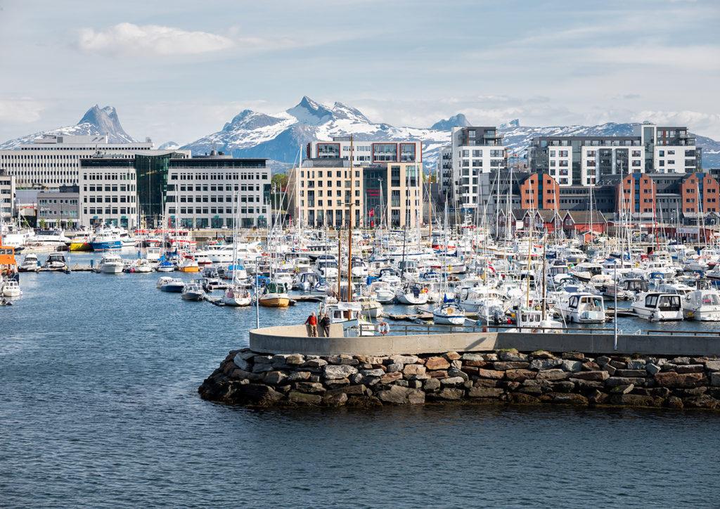 widok z promu - Norwegia