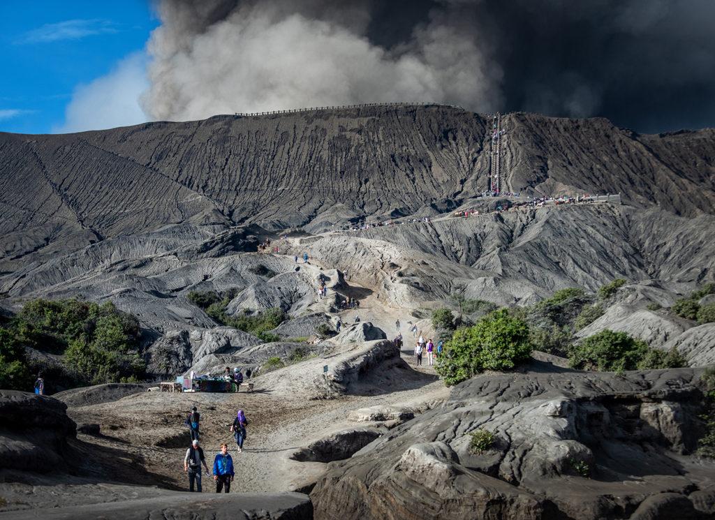 droga na wulkan bromo