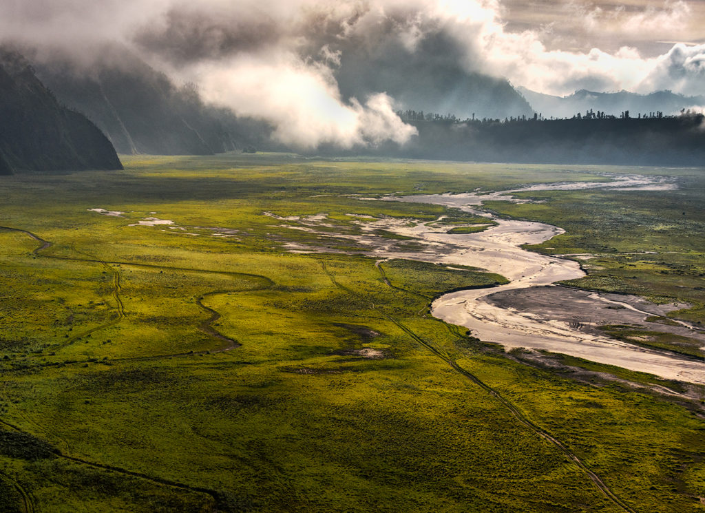 Pustynia Tengger przy wulkanie Bromo