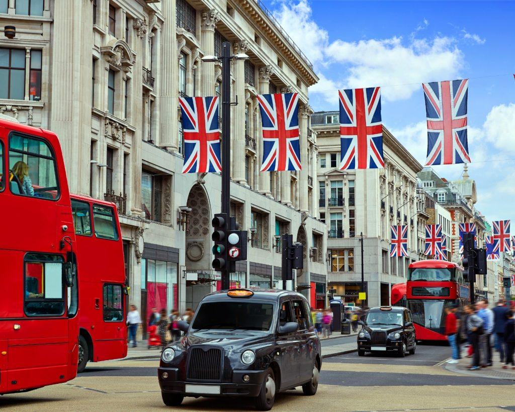 Regent Street. Londyn blog podróżniczy